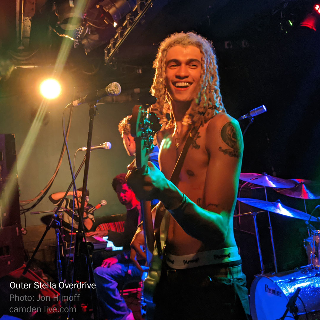 Kelvin Bueno, bass guitar Outer Stella Overdrive live at Dingwalls Jan 10, 2020
